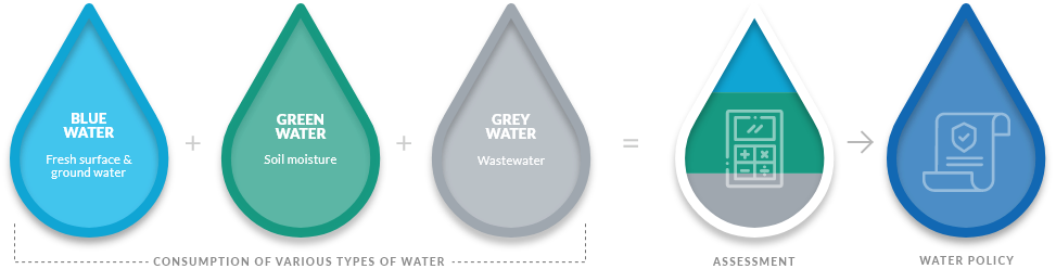 Consumption of various types of water