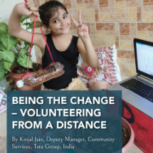 Being the change: Volunteering from a distance