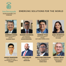 Alka Upadhyay, Head – Environment & Sustainability at Tata Sustainability Group (TSG) in conversation with industry leaders on 'Emerging Solutions of the World'